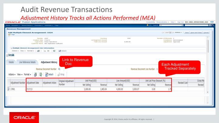 Audit Revenue Transactions