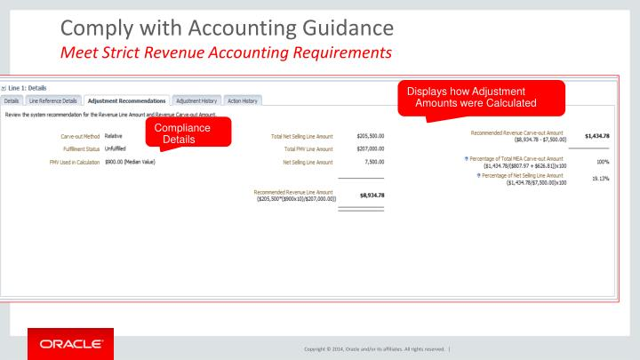 Comply with Accounting Guidance