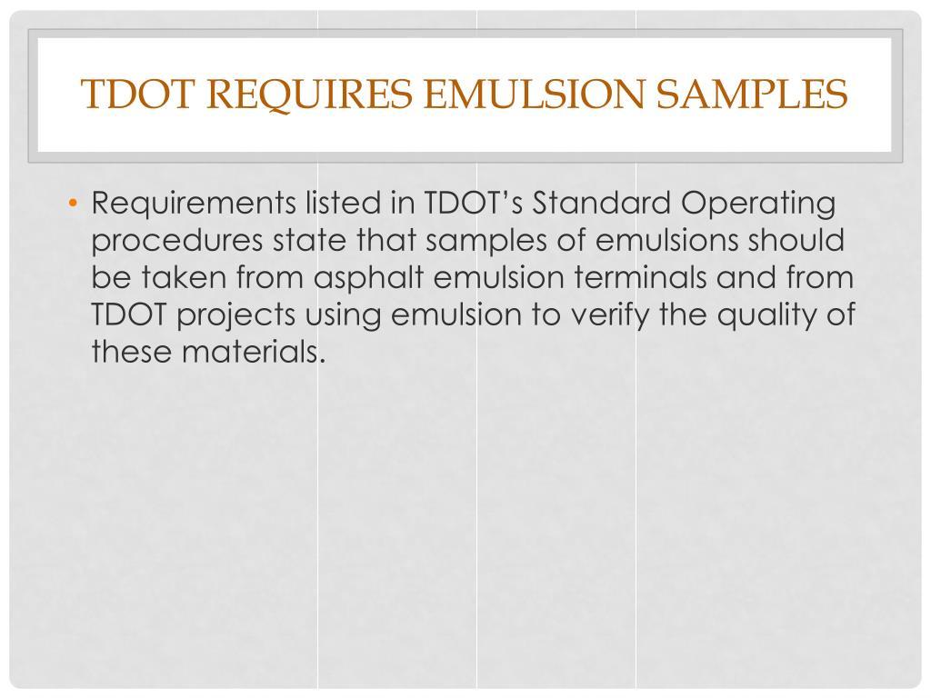 PPT - Sampling Asphalt Emulsions PowerPoint Presentation