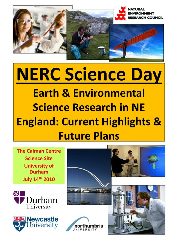 nerc science day earth environmental science research in ne england current highlights future plans n.