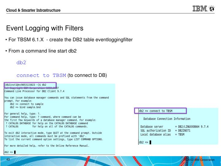 Event Logging with Filters