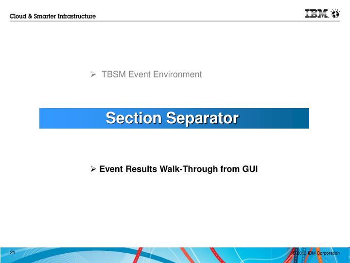 TBSM Event Environment