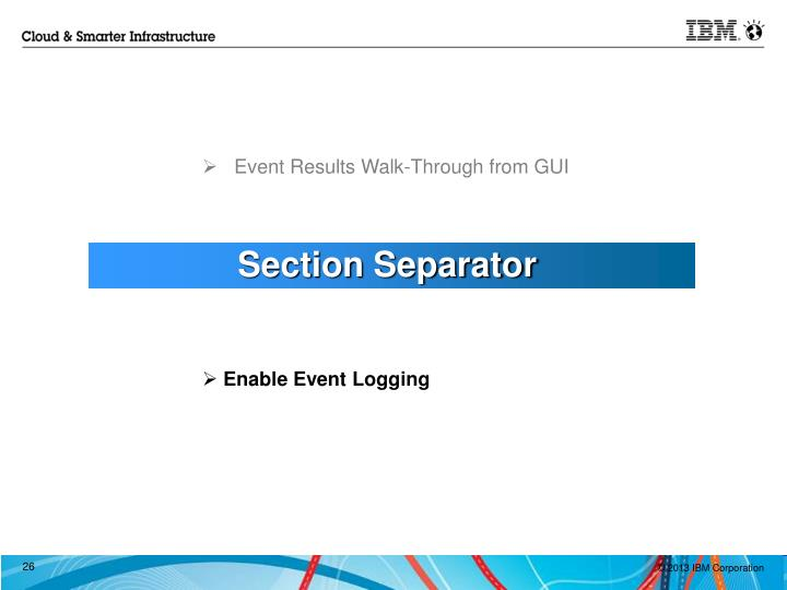 Event Results Walk-Through from GUI