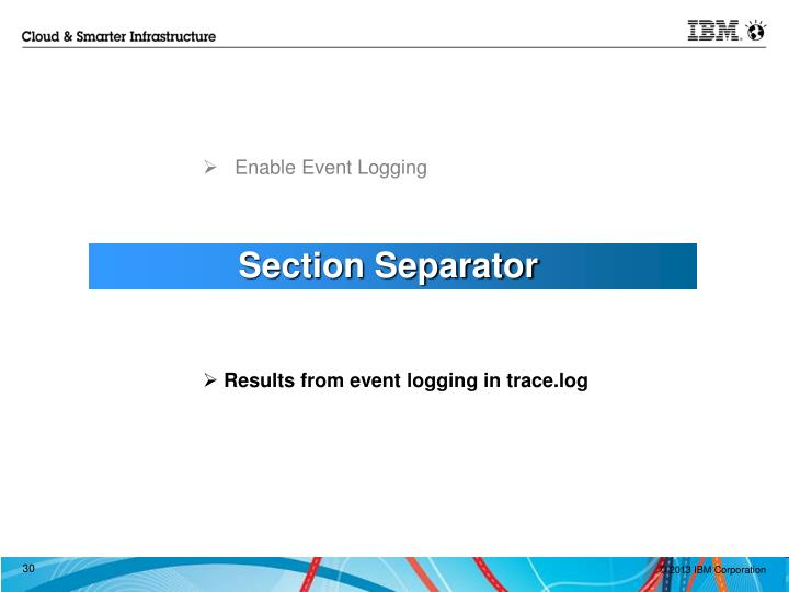 Enable Event Logging