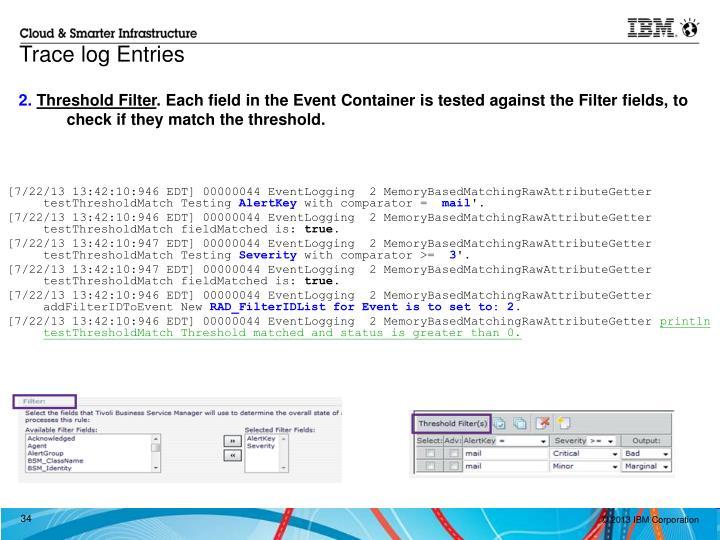 Trace log Entries
