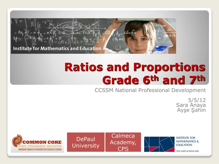 ratios and proportions grade 6 th and 7 th n.