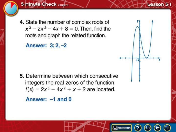5 minute check lesson 5 1b