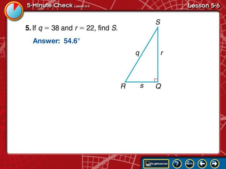 5-Minute Check Lesson 5-6B