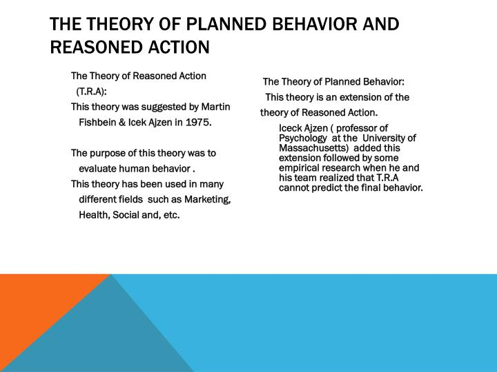 the theory of planned behavior and reasoned action n.