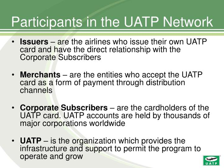 Participants in the uatp network