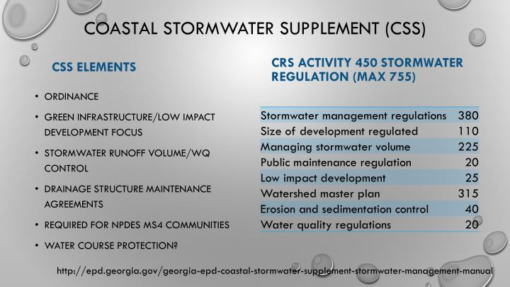 Coastal Stormwater Supplement (CSS)