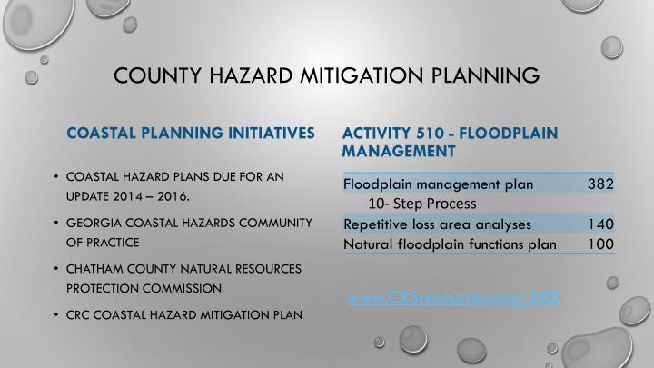 County Hazard Mitigation Planning