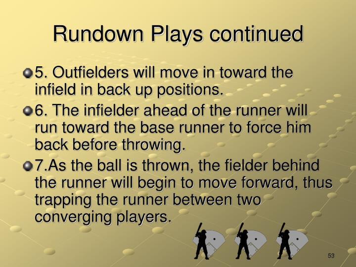 Rundown Plays continued