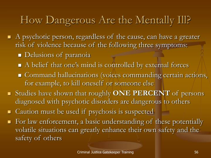 How Dangerous Are the Mentally Ill?