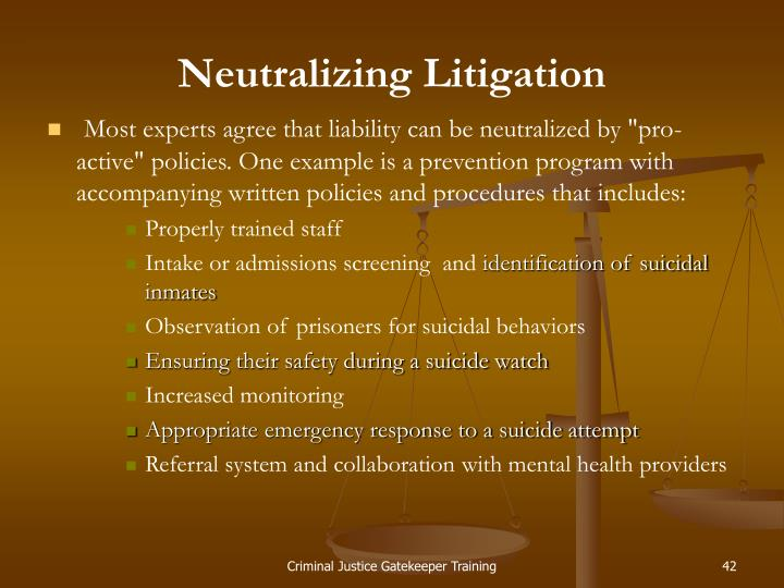 Neutralizing Litigation