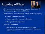 according to wilson