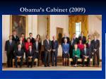 obama s cabinet 2009