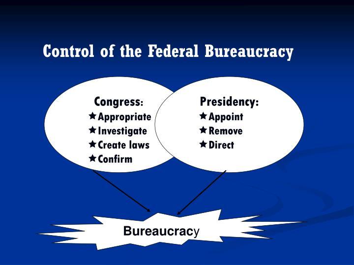 Control of the Federal Bureaucracy