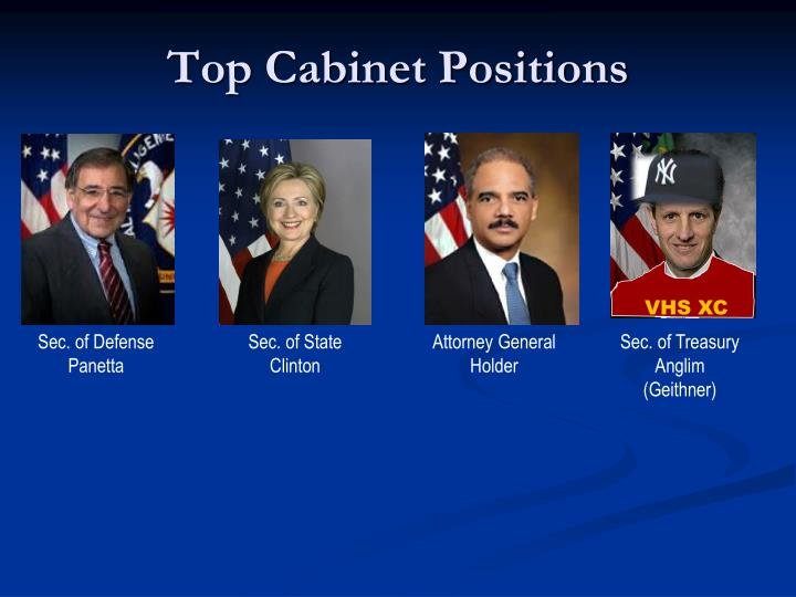 Top Cabinet Positions