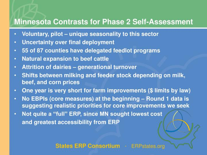 Minnesota Contrasts for Phase 2 Self-Assessment