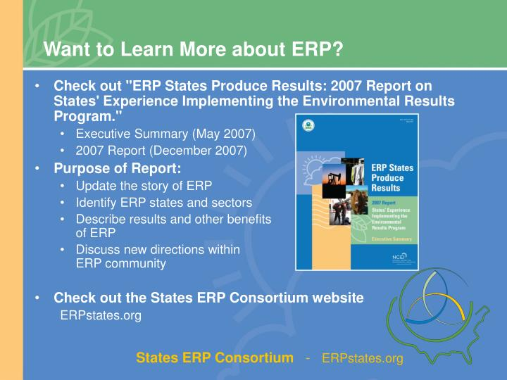 Want to Learn More about ERP?