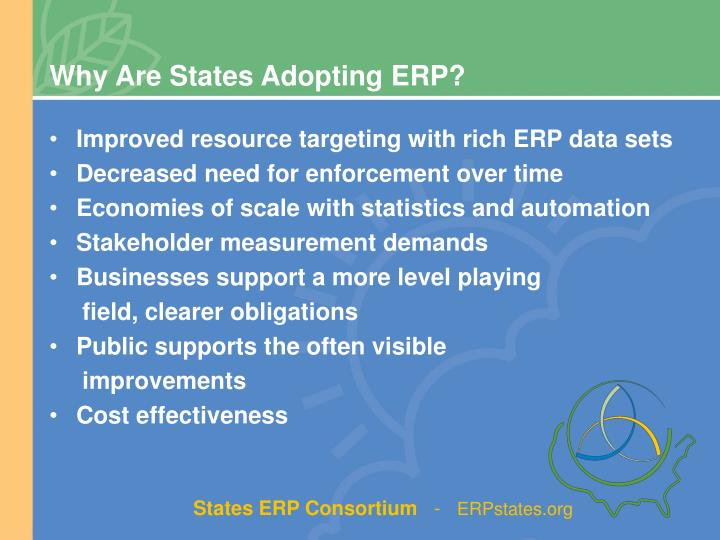 Why Are States Adopting ERP?