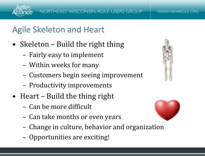 Agile Skeleton and Heart