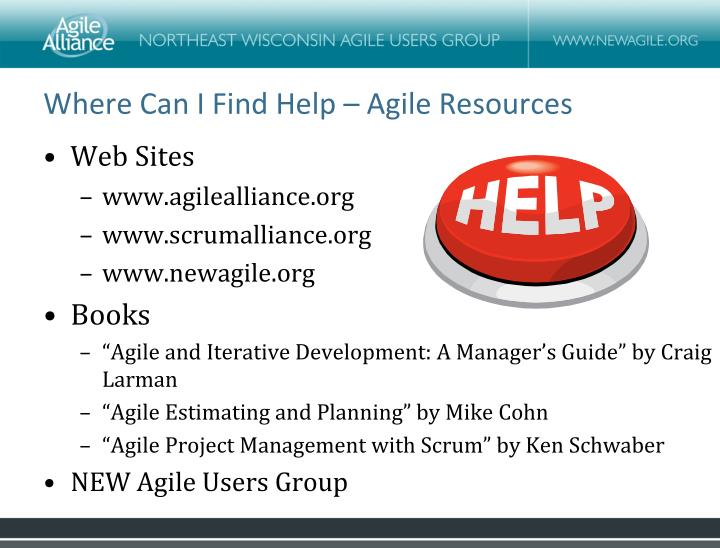 Where Can I Find Help – Agile Resources