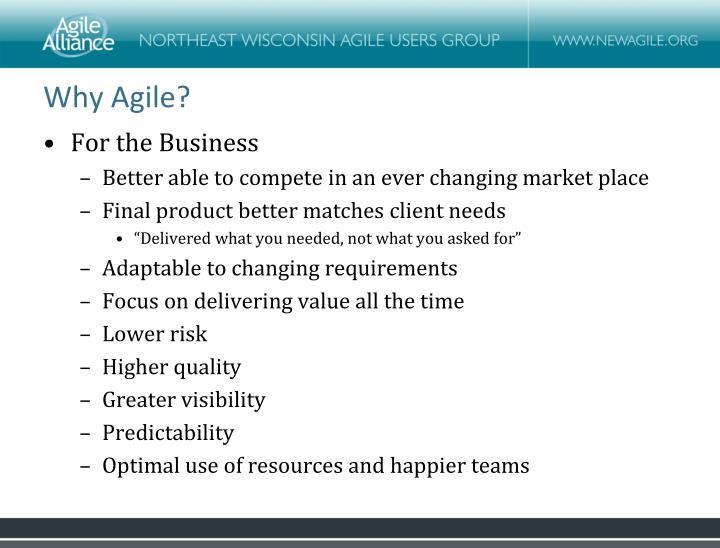 Why Agile?