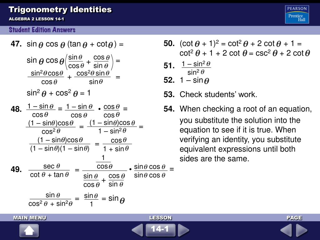 PPT - Trigonometry Idenies PowerPoint Presentation, free ... Algeic Expression Equivalent To Cos Tan X on