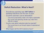 deficit reduction what s next