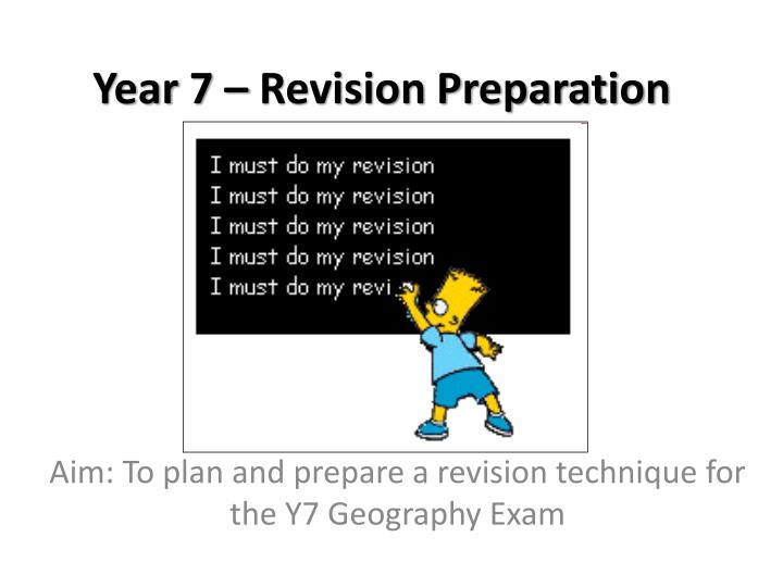 Year 7 revision preparation
