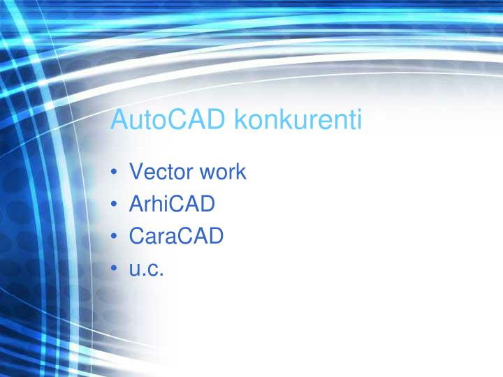AutoCAD konkurenti
