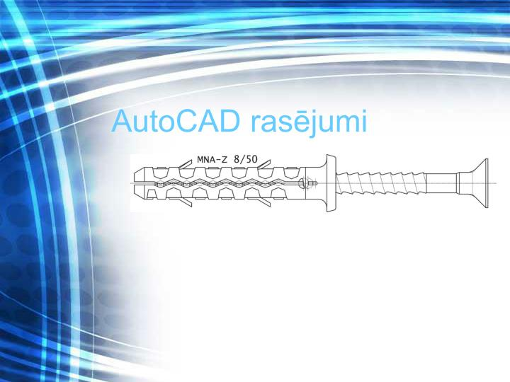 AutoCAD rasējumi