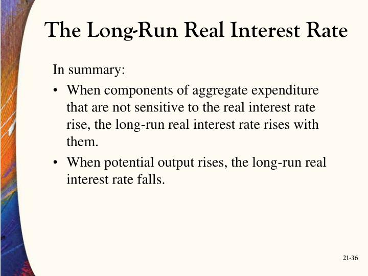 The Long-Run Real Interest Rate
