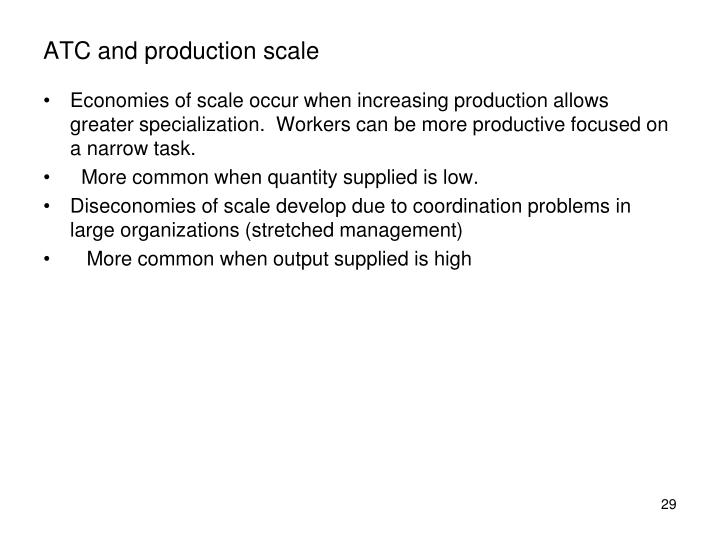 ATC and production scale