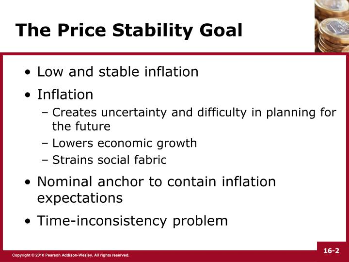 The price stability goal