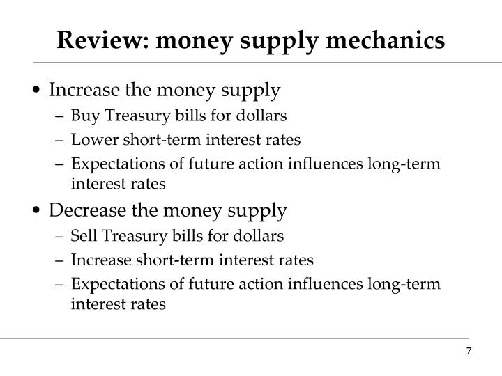 Review: money supply mechanics