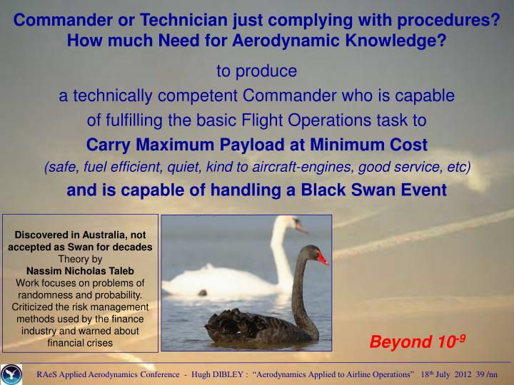 Commander or Technician just complying with procedures?