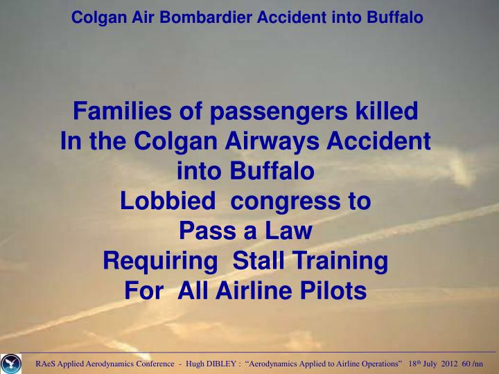 Colgan Air Bombardier Accident into Buffalo