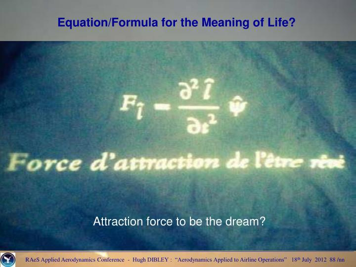 Equation/Formula for the Meaning of Life?