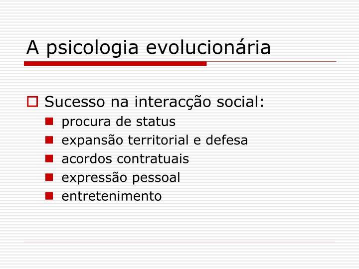 A psicologia evolucionária