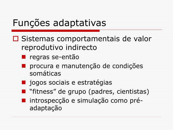 Funções adaptativas
