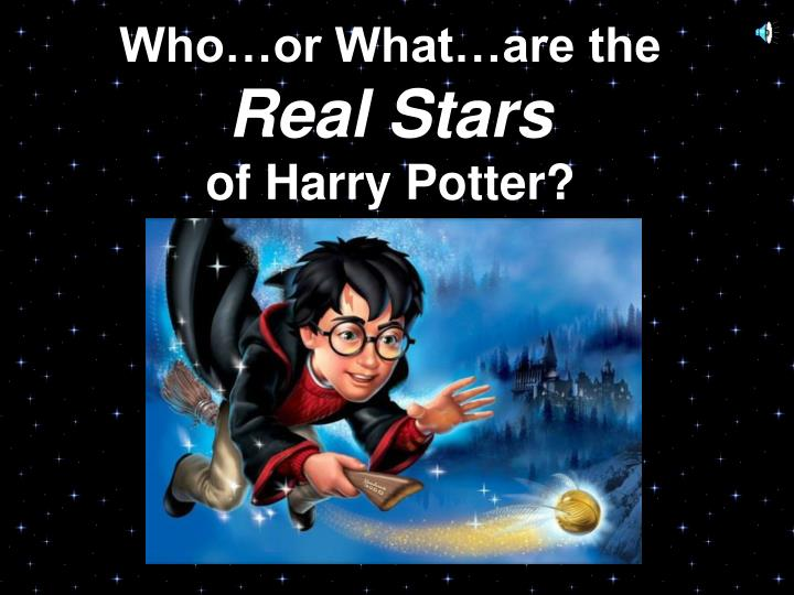 who or what are the real stars of harry potter n.