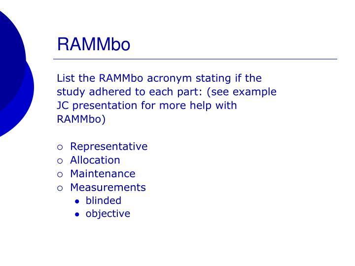 RAMMbo