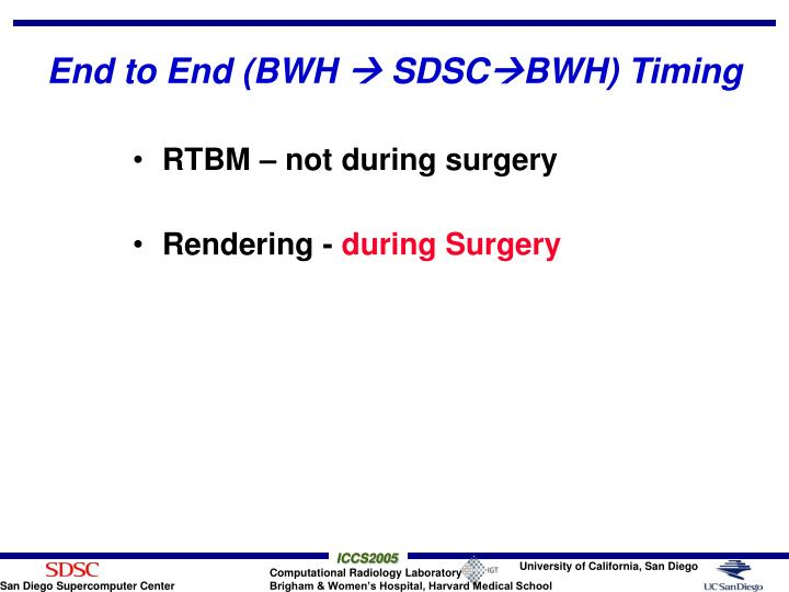 End to End (BWH