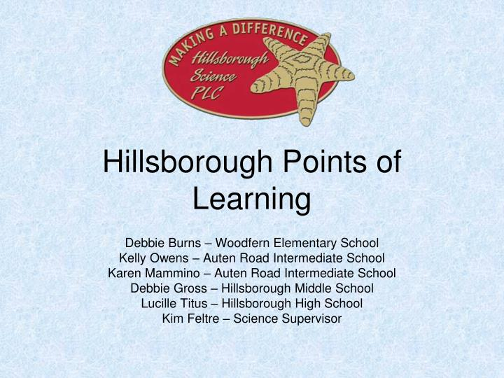 hillsborough points of learning n.