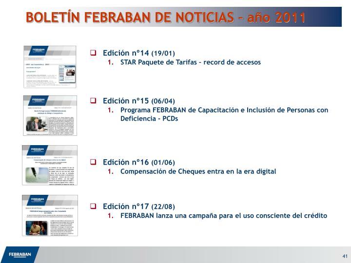 BOLETÍN FEBRABAN DE NOTICIAS – año 2011