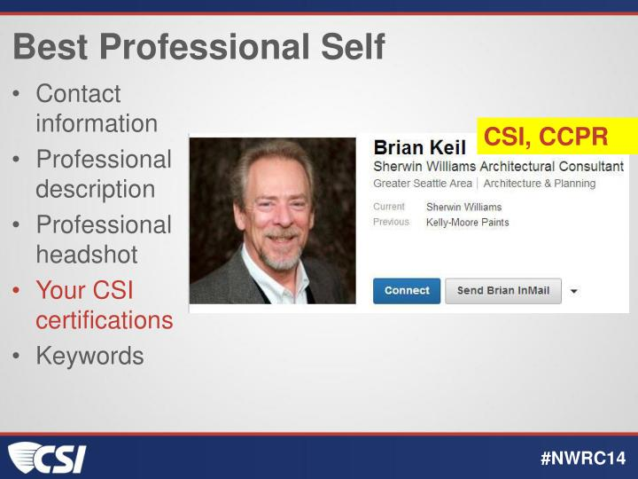 Best Professional Self