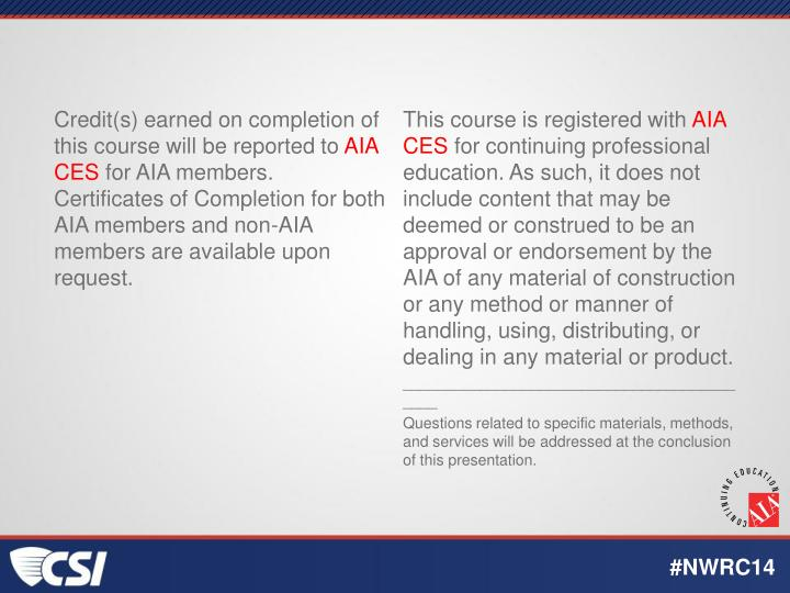 Credit(s) earned on completion of this course will be reported to
